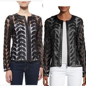 Bagatelle Leaf Leather Mesh Jacket